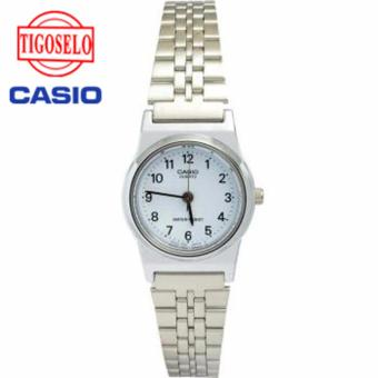 Casio Analog Watch - Jam Tangan Wanita - Silver - Strap Stainless Steel