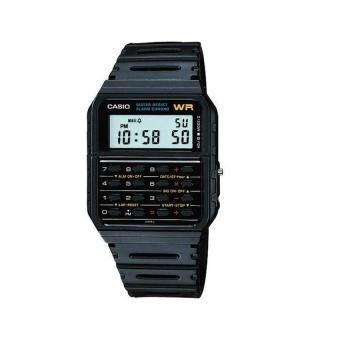 Casio Calculator Watch - Jam Tangan Unisex - Strap Karet - Hitam - CA