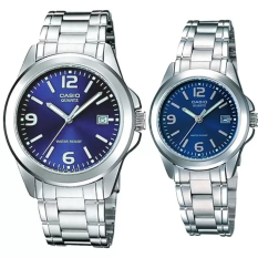 Casio Couple Watch Jam Tangan Couple - Silver - Strap Stainless Steel - CP 1215A-2A