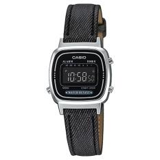 Casio Digital Jam Tangan Wanita - Hitam - Strap Kulit - LA-670WL-1B