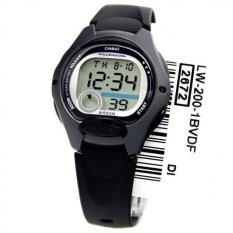 Casio Digital Watch LW-200-1BVDF - Jam Tangan Wanita - Resin - Hitam