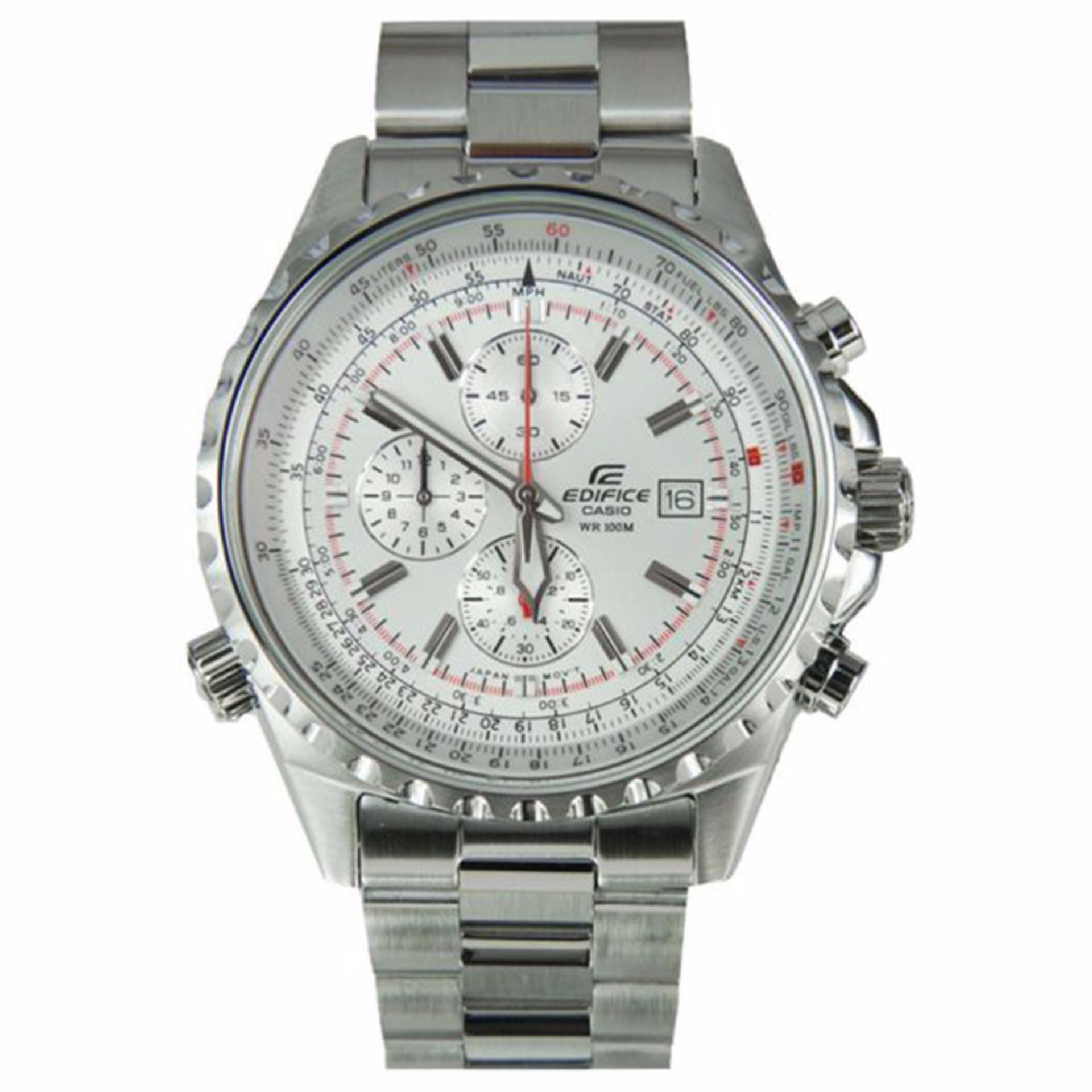 Casio Ediface D46H1475EF527D7AVUDF Chronograph Jam Tangan Pria Stainless Steel Chain .