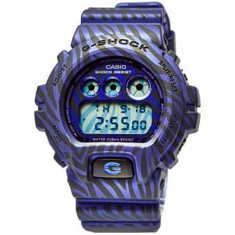Casio G-SHOCK DW-6900ZB-2DR - Digital - Multifunction - Jam Tangan Pria - Bahan Tali Resin - Biru - Hitam
