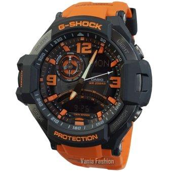 Casio G-Shock GA1000M-DT Jam Tangan Pria Strap Rubber Hitam Orange