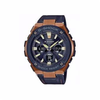 Casio G-Shock GST-S120L-1A Tough Leather Band Black - intl