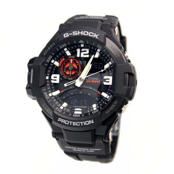 Casio Watch G-SHOCK GRAVITYMASTER Black Resin Case Resin Strap Mens NWT + Warranty GA-1000-1A