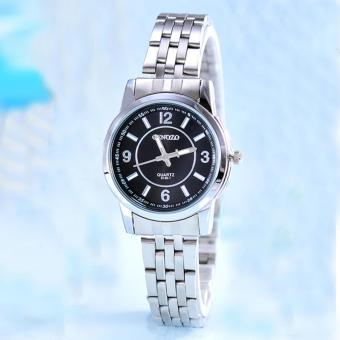 Cenozo - Jam Tangan Wanita - Body Silver - Black - Dial - Stainless Stell Band - CNZ-RT-8126C-L- SB-Stainless Stell Band