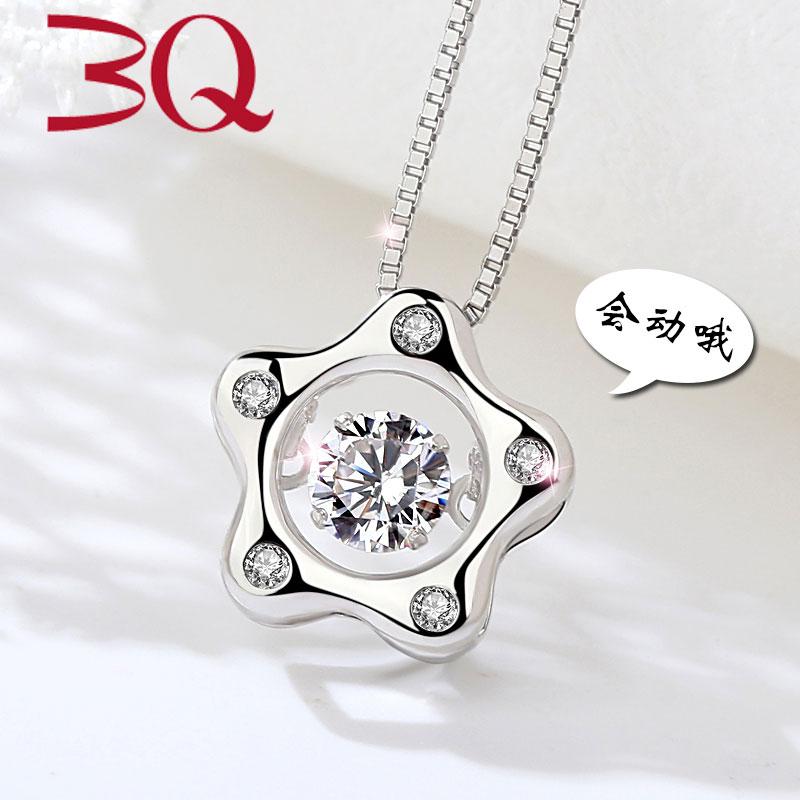 Cerdas S925 Jepang dan Korea Selatan perempuan rantai klavikula sterling silver kalung
