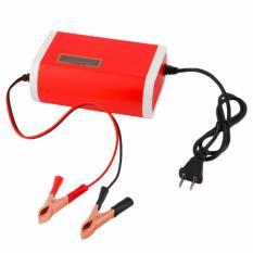 Charger Aki Mobil Motor 12V 6A dengan LCD - Red