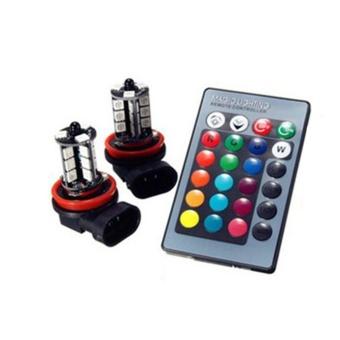 CHEER RGB LED Anti-Fog Light Auto Car Styling Fog Lamp Mengemudi Light  dengan Remote ed708abf96