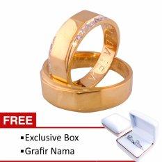 Cincin Couple Tunangan dan Nikah RK-67 Lapis Emas Exlusive