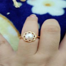 cincin mutiara bunga cantik xuping gold