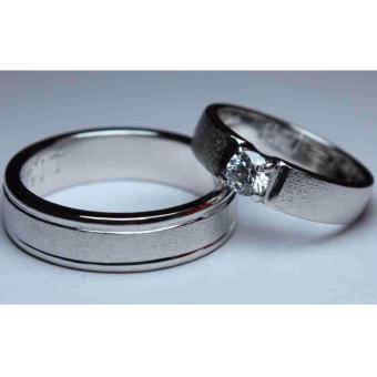 Gambar cincin nikah satupasang perak 925 rhodium