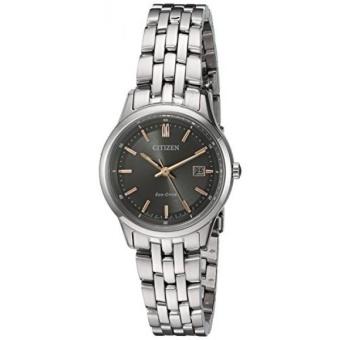 Citizen Womens Eco-Drive Bracelet Quartz Stainless Steel Watch,Color:Silver-Toned (Model: EW2400-58H) - intl