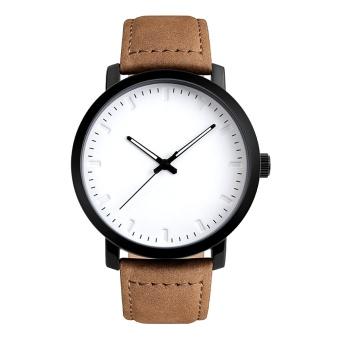 Classic Men Business Casual Luxury Leather Strap Quartz Wrist Watch Wristwatch - intl