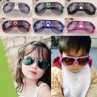 Cool and fashionable Child Sunglasses Baby Sun For Kid Girls Eyeglasses kids Colorful baby Cool 2017 - intl