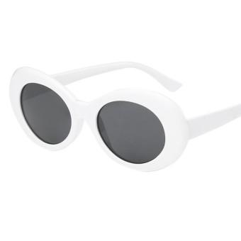 Coromosevintage Lonjong Sepanjang Kacamata Hitam Pria Wanita UV400 Shades Mirrored  Kacamata Lensa Colour  Putih + 50d4fefb5f