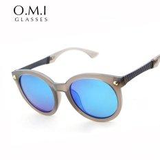 CRYSTAL STORY Versae Oval Kacamata Wanita Perancang Merek 2017 Mewah Superstar VINTAGE Retro Hip Hop Lingkaran Sun Glasses STY-PS188- INTL