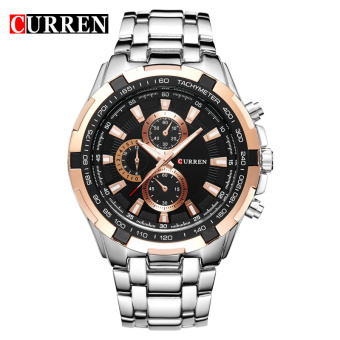 CURREN 8023 men watches quartz watch waterproof silver black gold