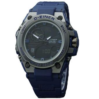 D-Ziner - Jam tangan Sport Pria - Rubber Strap - DZ8139 Blue
