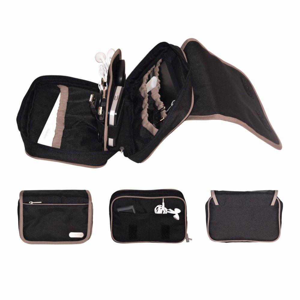 D'renbellony Gadgets Pouch Organizer (Black) / Dompet aksesoris gadgets / Dompet traveling