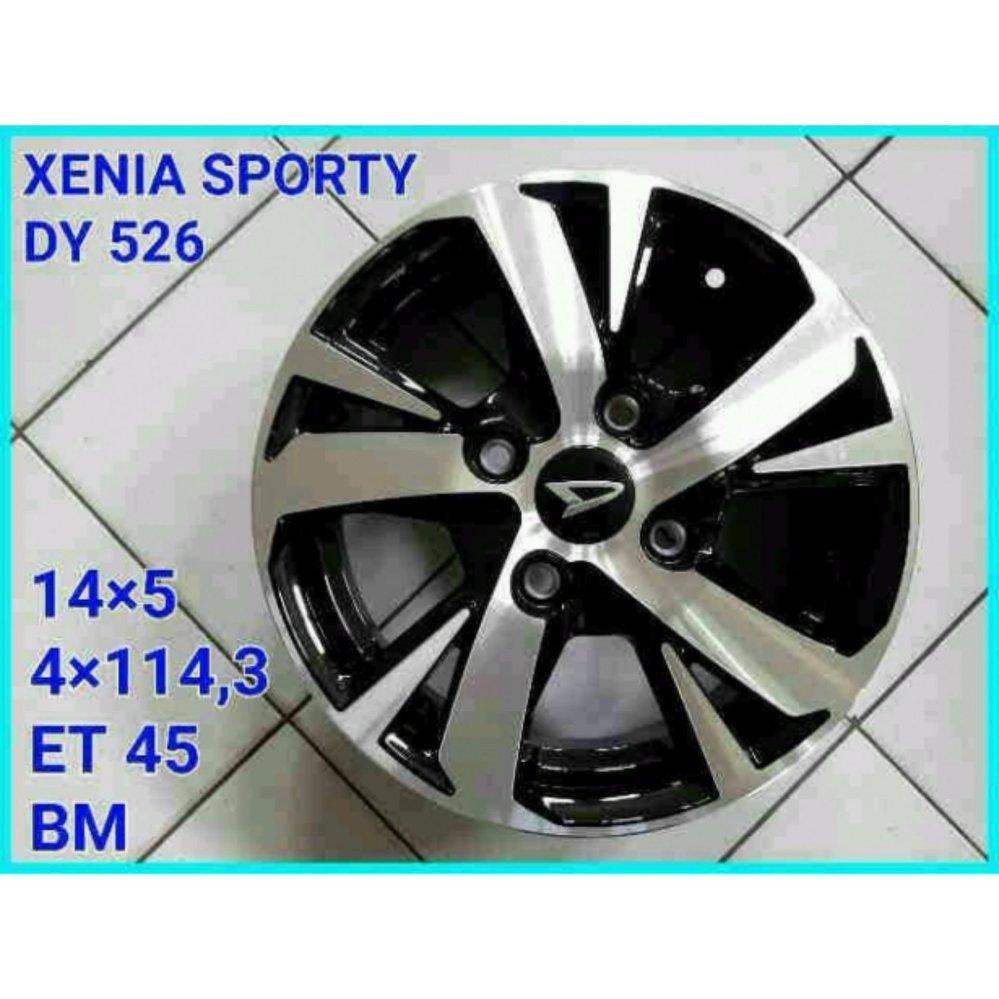 DAIHATSU XENIA DY526 Velg/Rims 14 Inch Silver Black 1 Set 5 Pcs