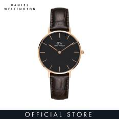 Daniel Wellington Classic Petite York Black Watch 32mm-Rose Emas