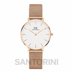 Daniel Wellington DW00100163 Jam Tangan Wanita Classic Petite Sterling 32MM Women Metal Bracelet Watch - Rose Gold White
