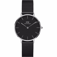 Daniel Wellington DW00100202 Jam Tangan Wanita Classic Petite Ashfield 32MM Women Stainless Steel Watch - Silver Black