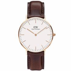Daniel Wellington Jam Tangan Pria Wanita 0511DW Classic Bristol Unisex Leather Men Women Watch - Brown