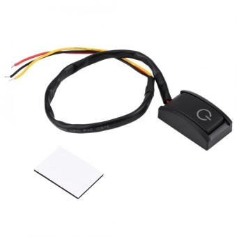 DC 12V 200A Car DIY Switch Paste Type Sticky Button Switch ON/OFF - intl