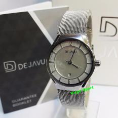 Dejavu DJ5014 Original Watch - Jam Tangan Fashion Wanita - Stainlees Steel - Silver