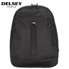 Delsey Bellecour Business Expandable Tas Backpack Dengan 2 Kompartment Dan Tempat Laptop - Hitam