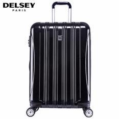 "Delsey Helium Aero 81cm 4Wheels Glossy Large Hard Case Trolley - Hitam ""FREE SHIPPING SELURUH AREA JAWA"""