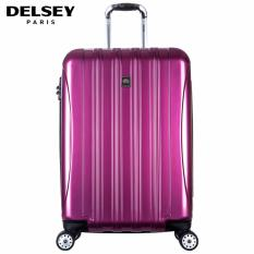 Delsey Helium Aero Tas Koper 69cm 4Wheels Glossy Medium Hard Case Trolley - Ungu