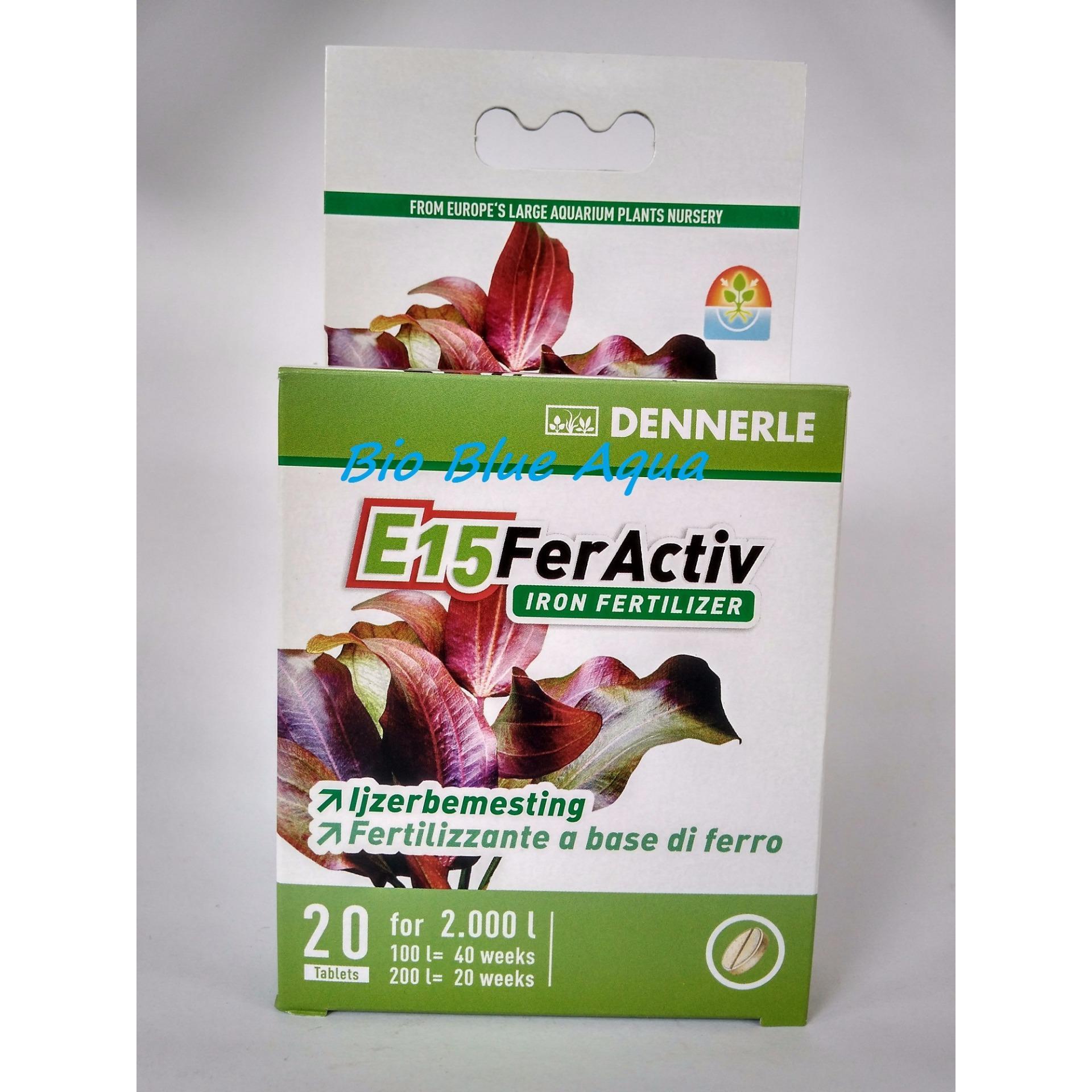 Dennerle E15 FerActiv 20 tablets ppupuk tanaman air