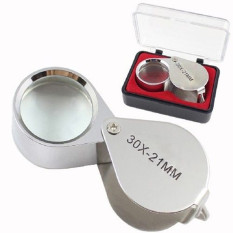 Diamond 30x21mm Kaca Pembesar Lup Kaca Pembesar Perhiasan Tiga Serangkai .