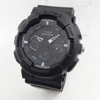 Digitec Dual Time DG2032- Jam Tangan Sport Pria - Full Rubber [Black]