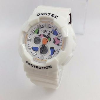 Digitec Dual Time DG3038- Jam Tangan Sport Wanita - Full Rubber