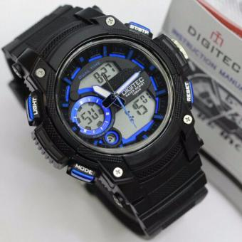 Digitec Jam Tangan Fashion - Anti Air 100M - Dual Time DG3042T - Black Blue