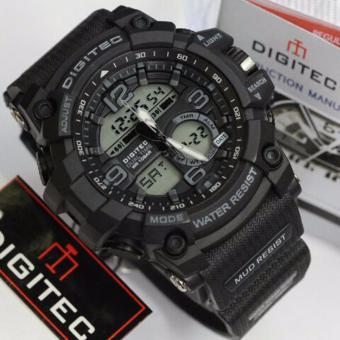 Digitec Jam Tangan Sport Dual Time DG2102T - Black