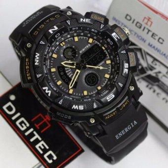 Digitec Jam Tangan Sport Energia Dual Time - Alarm - Stopwacth - Hari Tanggal - Hitam
