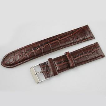 DJ Durable High-Grade Pu Leather Womens Mens Watch Hand Strap16mm-20Mm Brown- - intl
