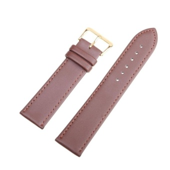 DJ High Quality Store New Women Men High Quality Unisex Leather Blackbrown Watch Strap Band 24Mm - intl