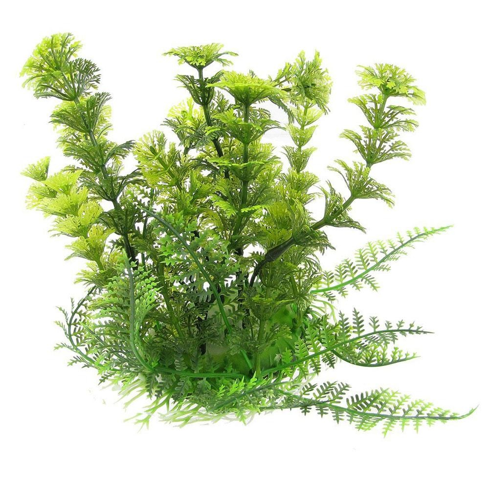 dmscs Green Plastic Artificial Grass Plants Decoration for FishTank Aquarium - intl