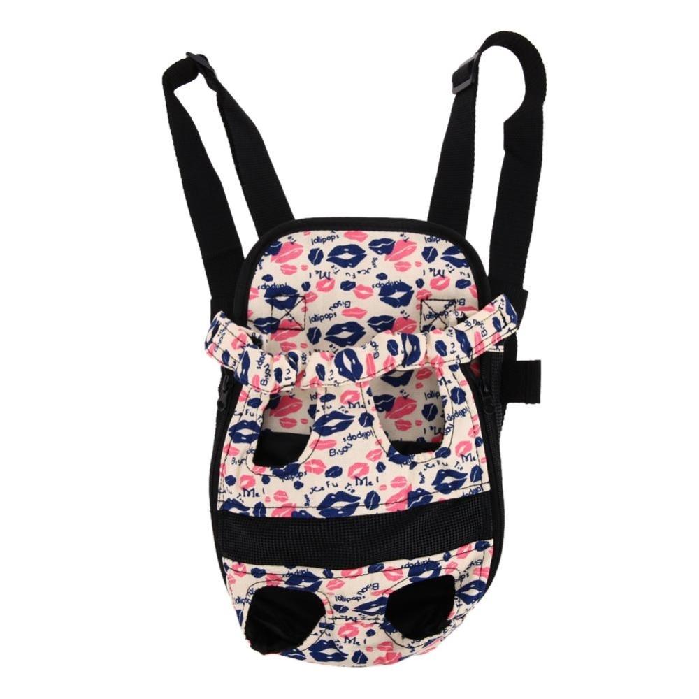 Dog Travel Breathable Backpack Carrier(Multicolor)-S - intl
