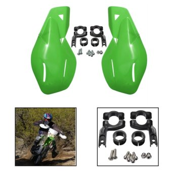 harga Ediors Dirt Bike ATV MX Motocross sepeda motor tangan pengaman Handguards w / Mount Green Kits - intl Lazada.co.id