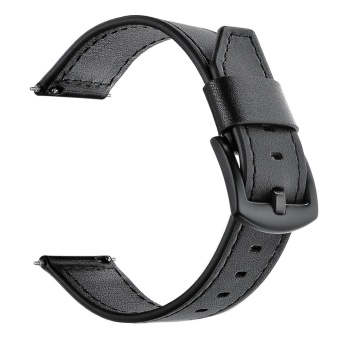 Elegant Leather Replacement Watchband Smart Bracelet Watch Wrist Band Strap for Fitbit Blaze Smart Fitness Tracker Smartband Black - intl