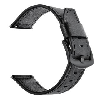 Elegant Leather Replacement Watchband Smart Bracelet Watch Wrist Band Strap for Fitbit Blaze Smart Fitness Tracker Smartband Black - intl