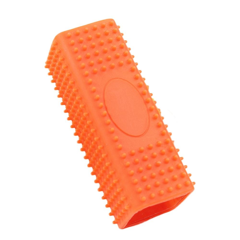 Elife Cat Dog Pet Soft Silicone Sticky Hair Removal Comb Hairbrush (Orange) - intl